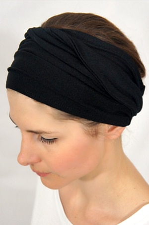 bandeau cheveux uni noir le shop foudre turbans bandeaux cheveux. Black Bedroom Furniture Sets. Home Design Ideas
