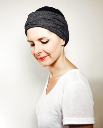 foudre_turbans_chimiotherapie_bonnet_reversible_chaud_gris_noir