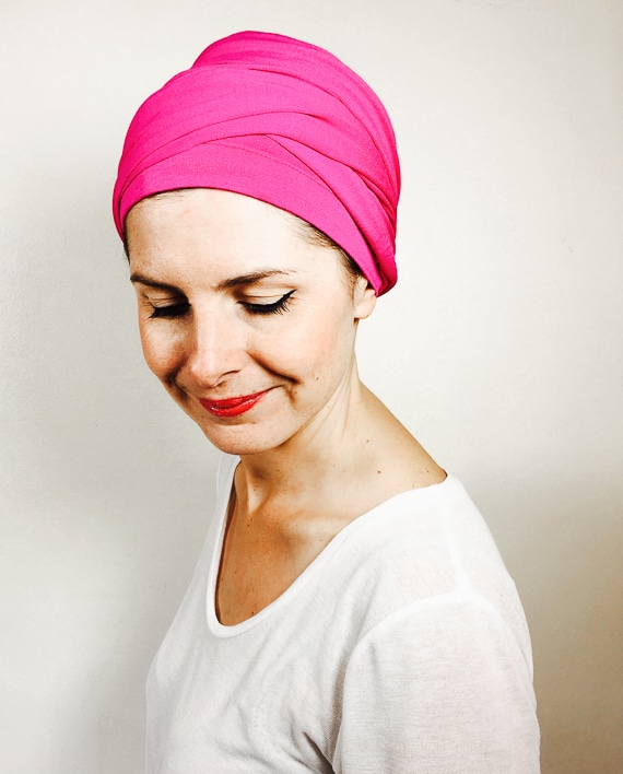 foudre_turbans_chimiotherapie_turban_enrouler_rose_fuschia