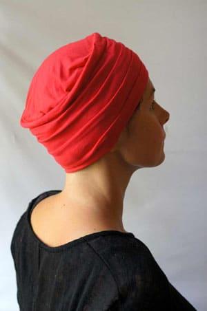 turban-chimiotherapie-rose-framboise-plisse-foudre