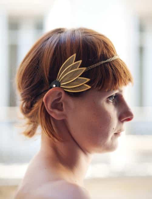 Headband art nouveau Sylvia - profil