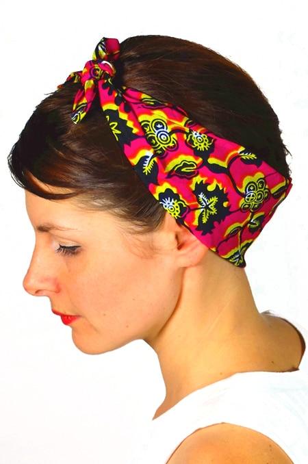bandana_cheveux_foudre_tissu_africain_wax_fleur
