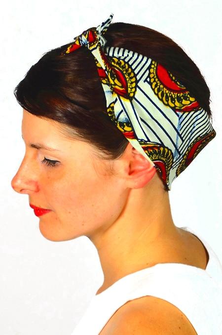bandana_cheveux_foudre_tissu_africain_wax_coquillage