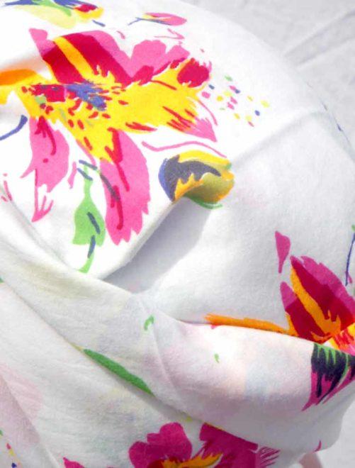 Bandana à fleurs fluos - Wham !