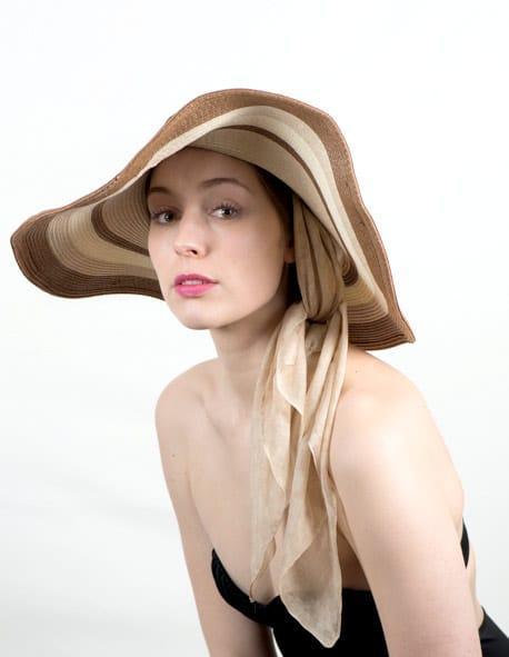 Chapeau capeline pour chimio - Sable