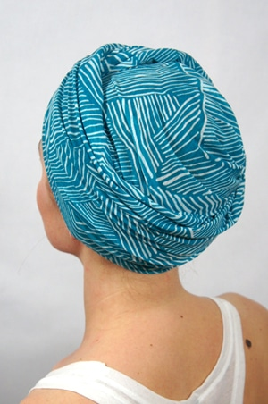 foudre-turbans-chimiotherapie-motif-lagon-bleu-2
