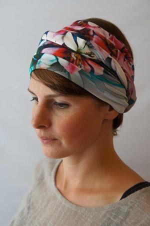 Bandeau à cheveux headband extensible fleurs tropical hawai