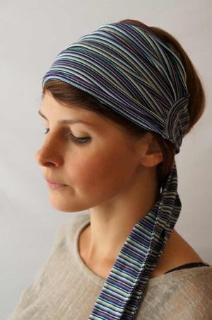 Headband extra large à rayures Foudre