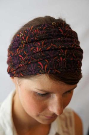 Bandeau à cheveux plissé pour chimiothérapie à motif timmy