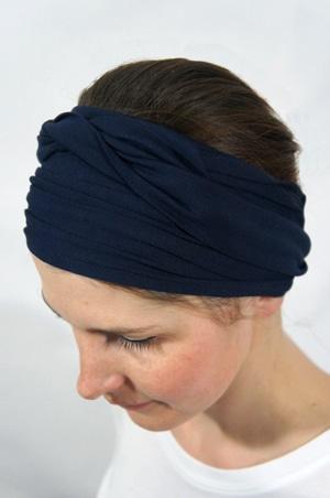 baskets nouvelle version limpide en vue Bandeau à cheveux Uni - Bleu marine