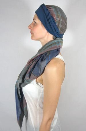 foudre-bandeaux-foulard-chimiotherapie-carreaux