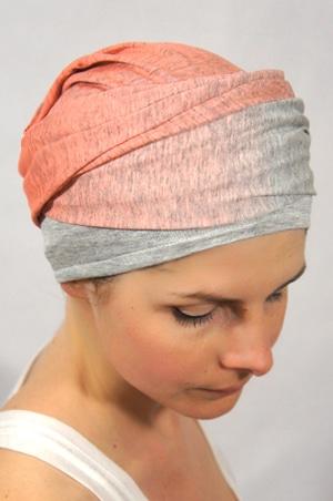 foudre-turbans-motif-degradé-gris-corail-4
