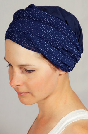 bonnet-foulard-chimiotherapie-pois-bleu-2