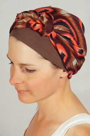 bandeau-foulard-chimiotherapie-marron-rose-3