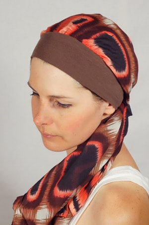bandeau-foulard-chimiotherapie-marron-rose-2