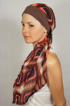 bandeau-foulard-chimiotherapie-marron-rose-1