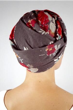 foudre-turban-chimiotherapie-fleurs-gris-2
