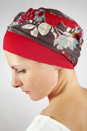foudre-turban-chimiotherapie-fleurs-gris-3
