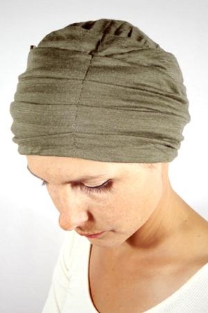 foudre-turban-plisse-chimio-maille-kaki-2
