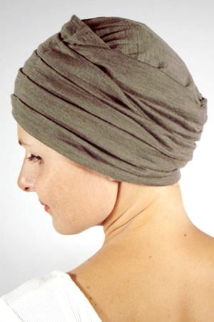 foudre-turban-plisse-chimio-maille-kaki