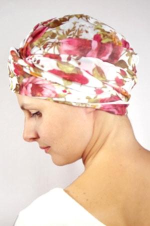 foudre-bonnet-turban-foulard-chimiotherapie-pelade-roses-4