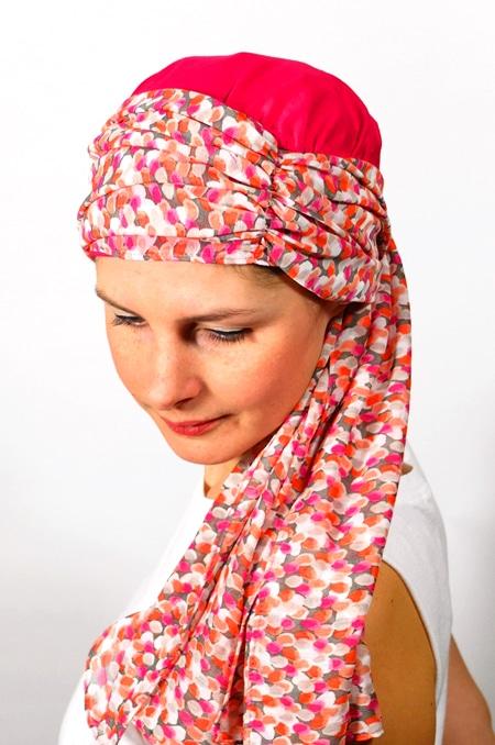 foulard_chimiotherapie_foudre_corail_ara4