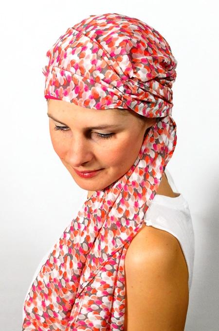 foulard_chimiotherapie_foudre_corail_ara5