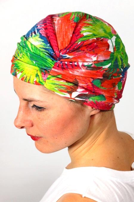 bonnet_chimiotherapie_foudre_fleurs_tropical_palmiers_2