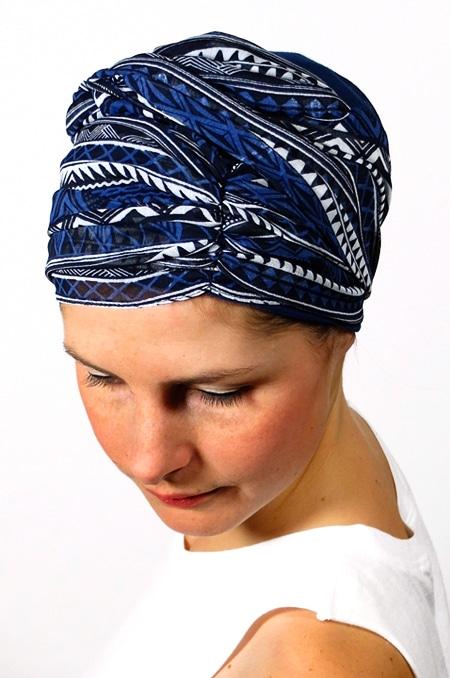 foulard_chimiotherapie_foudre_graphique_bleu_sen2