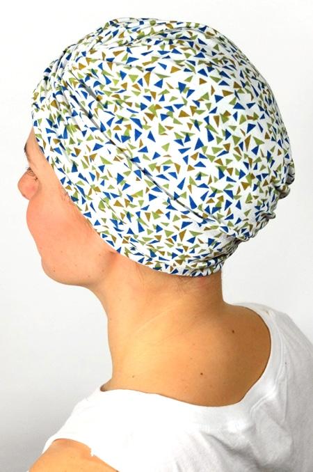 bonnet_chimiotherapie_foudre_motif_triangles_3
