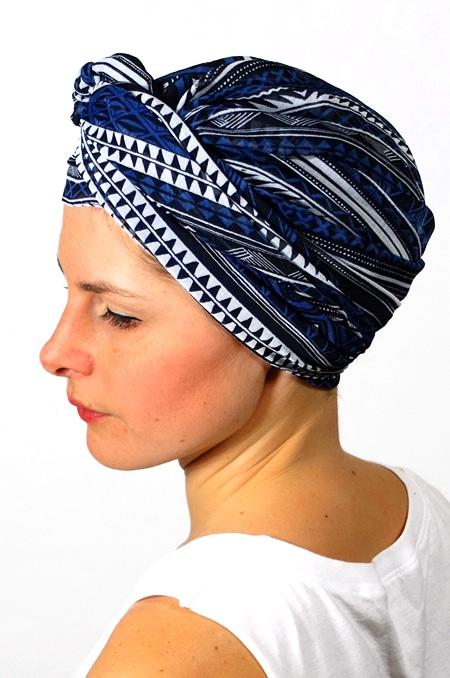 foulard_chimiotherapie_foudre_graphique_bleu_sen3