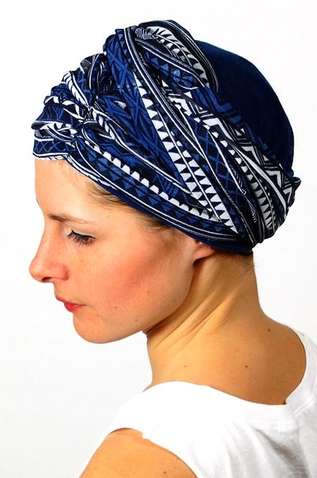foulard_chimiotherapie_foudre_graphique_bleu_sen4