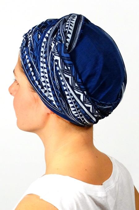 foulard_chimiotherapie_foudre_graphique_bleu_sen5