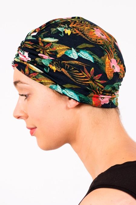 bonnet_chimiotherapie_foudre_fleurs_tropical_marine_hibiscus_2