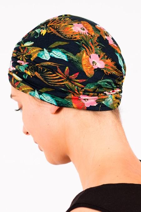bonnet_chimiotherapie_foudre_fleurs_tropical_marine_hibiscus