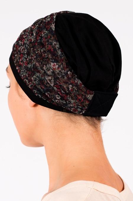 pack_chimiotherapie_bonnet_bandeau_chimio_fleuri_noir_3