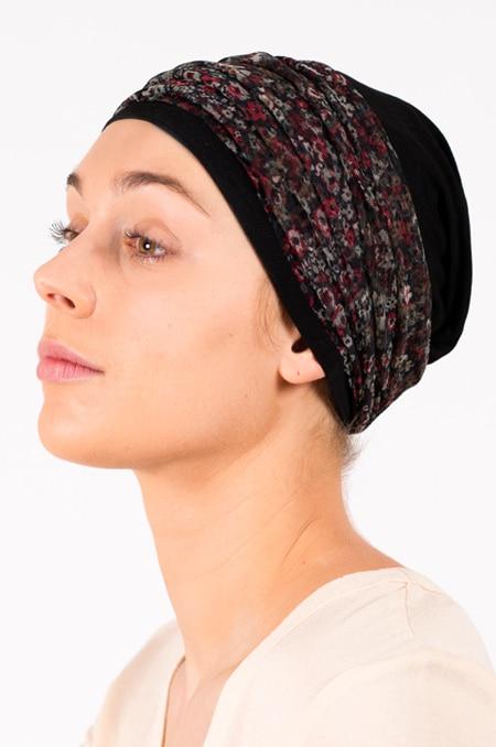 pack_chimiotherapie_bonnet_bandeau_chimio_fleuri_noir_2