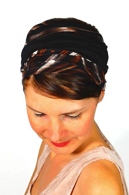 bandeau_a_cheveux_extra-large_bicolore_marron_foudre