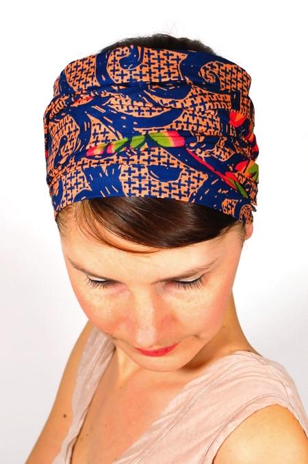 bandeau_a_cheveux_tissu_africain_turban_foudre_wax_saumon