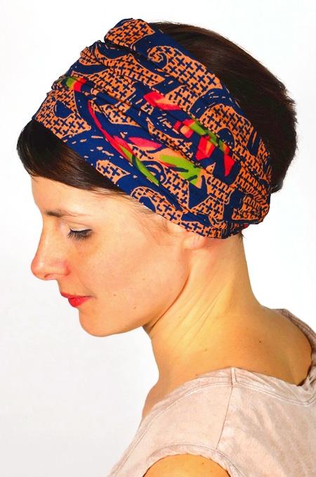 bandeau_a_cheveux_tissu_africain_turban_foudre_wax_saumon_2