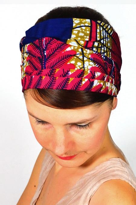 bandeau_a_cheveux_tissu_africain_turban_foudre_wax_marine_2