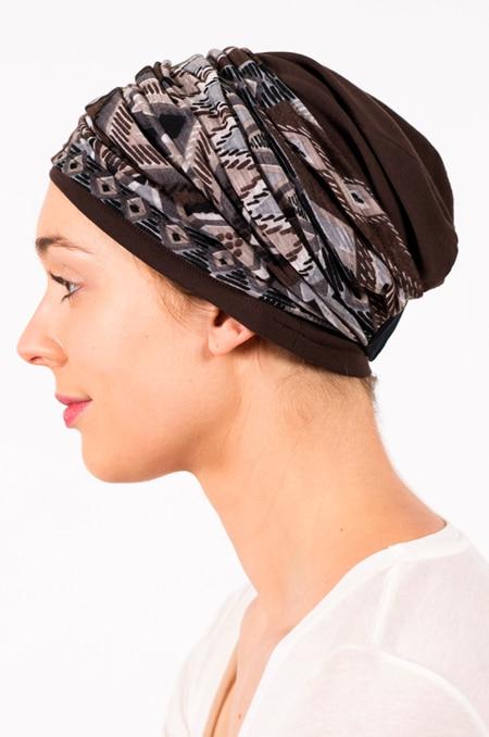 pack_chimiotherapie_bonnet_bandeau_chimio_marron_vodoo