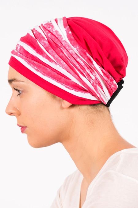pack_chimiotherapie_bonnet_bandeau_chimio_rayures_grenadine