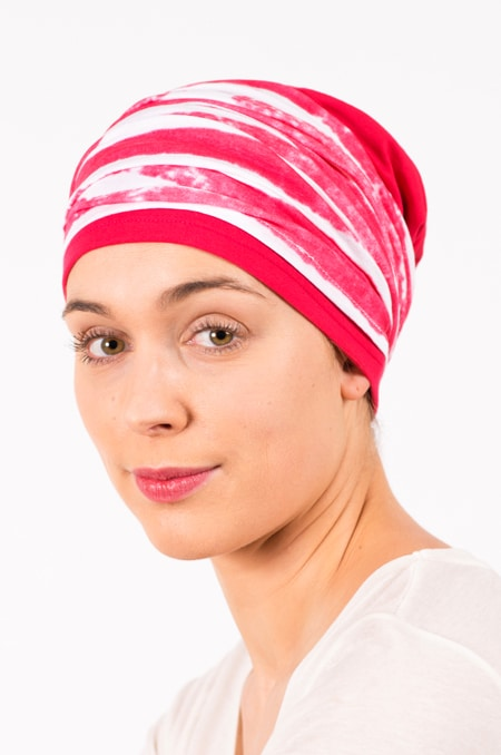 pack_chimiotherapie_bonnet_bandeau_chimio_rayures_grenadine_3