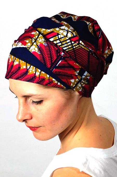 bandeau_chimiotherapie_foudre_tissu_africain_wax_marine_4