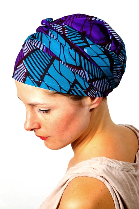 bandeau_chimiotherapie_foudre_tissu_africain_wax_violet_2