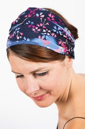 magasiner pour l'original profiter de prix discount meilleurs tissus Bandeau à cheveux - Japon Floral Bleu