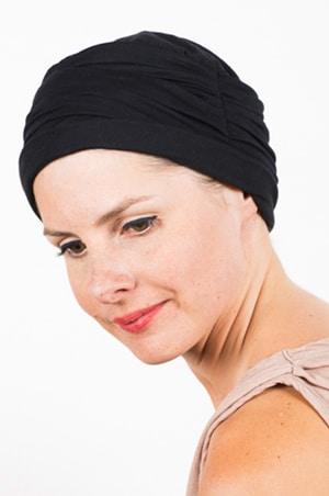 chapeau_chimiotherapie_plisse_noir