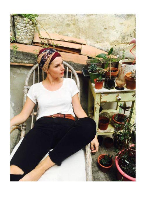 foudre_turbans_chimiotherapie_ensemble_bandeaux_ocre_fauve