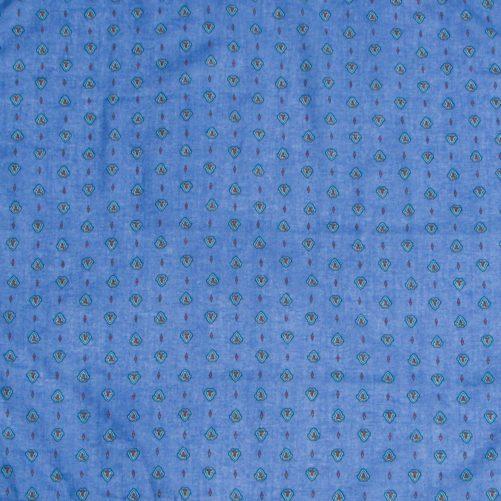 bandana_cheveux_foudre_coton_classique_bleu